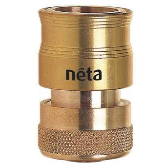 Neta Brass EZ Hose Connector 18mm