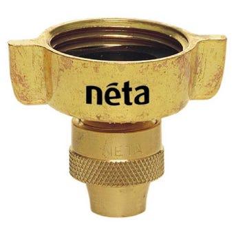 """Neta Brass Screw Tap Adaptor 1"""" x 12mm"""
