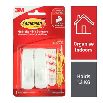 Command Medium Hook - 2 Pack