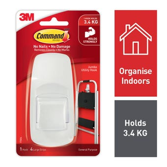 Command Jumbo Hook - 1 Pack