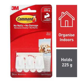 Command Micro Hook 4 strips - 3 Pack