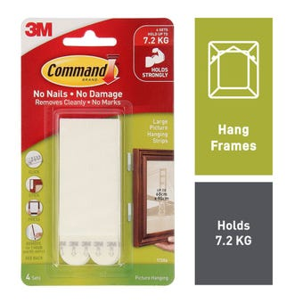 Command Picture Hanging Strips White Large - 2 Pack