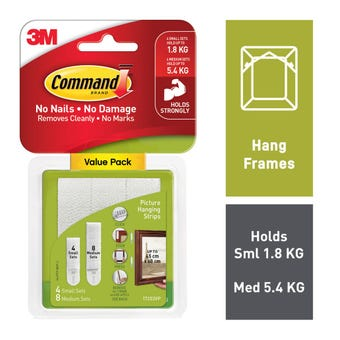 Command Picture Hanging Strips Small & Medium - 12 Pack