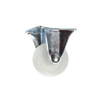 Cold Steel Nylon Fixed Castor White 40mm