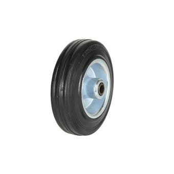 Cold Steel Rubber Wheel with Steel Centre 125mm