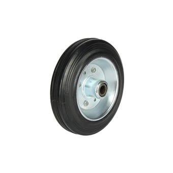 Cold Steel Rubber Wheel with Steel Centre 150mm