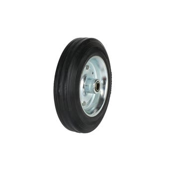 Cold Steel Rubber Wheel with Steel Centre 200mm