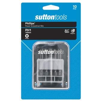 Sutton Tools Screwdriver Bit Set Phillips 50mm - 10 Piece