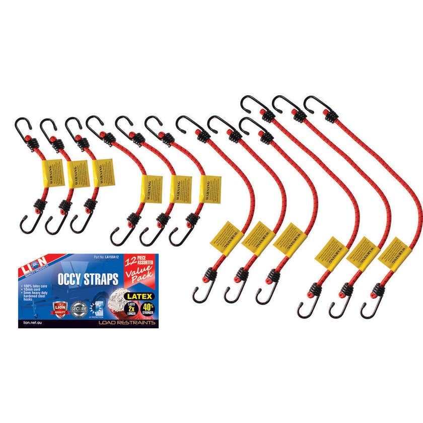 Lion Occy Strap Value Pack - 12 Piece