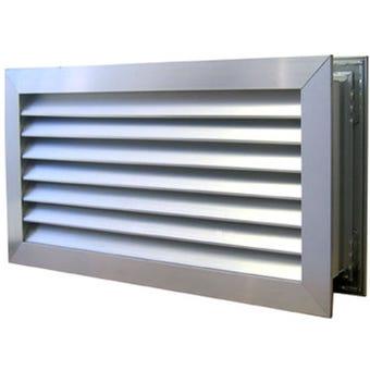 Haron Door Relief Vent Silver 600 x 150mm