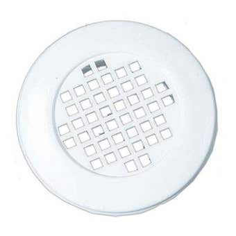 Haron Cupboard Vent Plastic White 40mm - 2 Pack