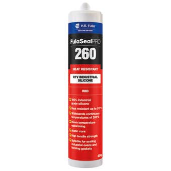 HB Fuller Silicone FulaSeal Pro 260 Heat Resistant Red 300g