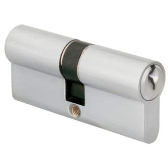 Delf Euro Double Cylinder Chrome Plated 65mm