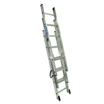 Bailey Aluminium Triple Extension Ladder 135kg Industrial