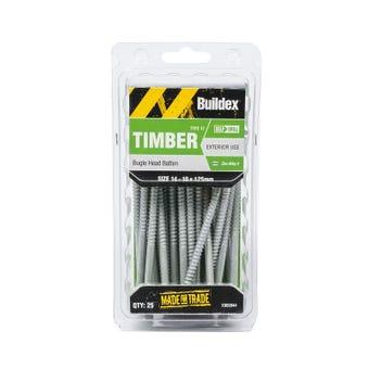 Buildex® Bugle Batten Screws Type 17 Zinc Alloy 3 14 - 10 x 125mm - 25 Pack