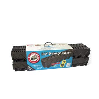 Reln Storm Drain Garage Pack Black 1m - 4 Pack