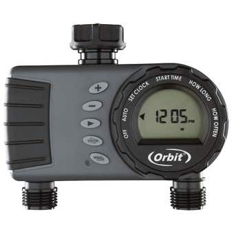 Orbit Water Tap Timer 1 Dial 2 Outlet