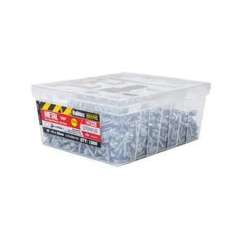 Buildex® Metal Roofing Teks Hex Head HIGRIP with Seal 12 - 14 x 35mm - 1000 Pack