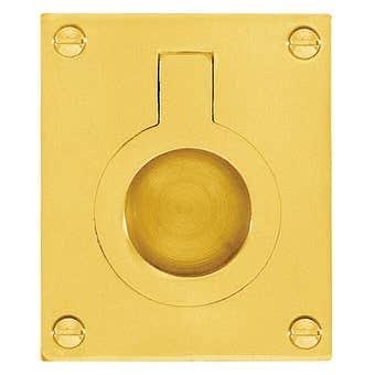 Delf Flush Ring Polished Brass 52x64mm