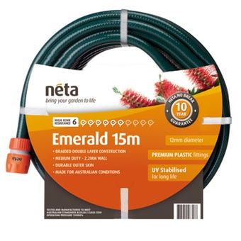 Neta Emerald Fitted Hose 15m x 12mm