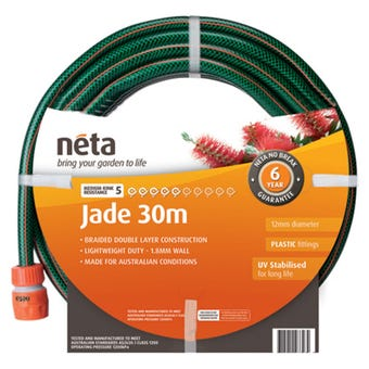 Neta Jade Fitted Hose 30m x 12mm