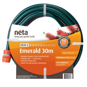 Neta Emerald Fitted Hose 30m x 12mm