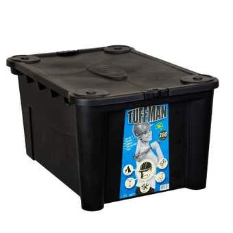 Tuffman Plastic Storage Box With Lid 160L