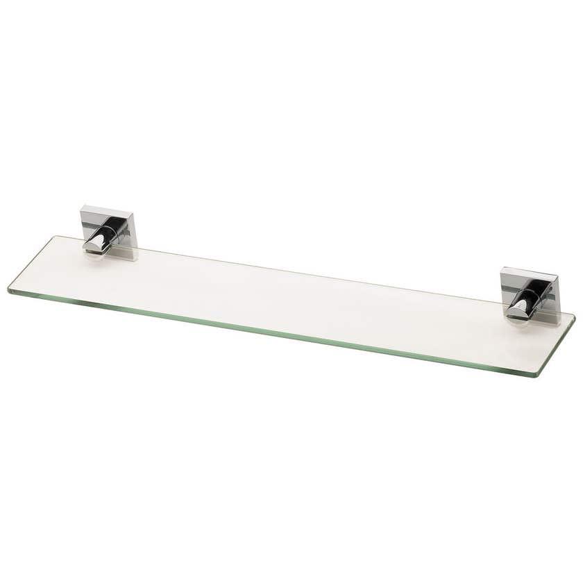 Phoenix Radii Square Glass Shelf Chrome