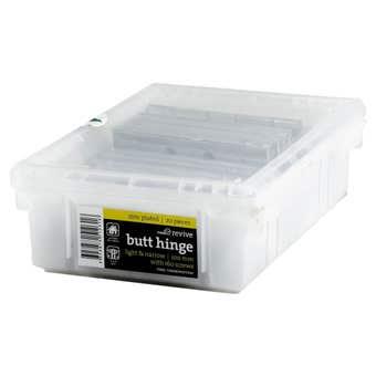 Trio Trade Door Butt Hinge Zinc Plated 100 x 75 x 1.6mm - 20 Pack