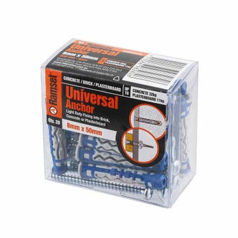 Ramset Universal Anchor Nylon 8 x 50mm - 20 Pack