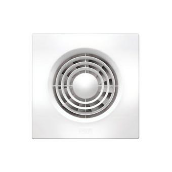 HPM Wall Fan Slimline Square White 100mm