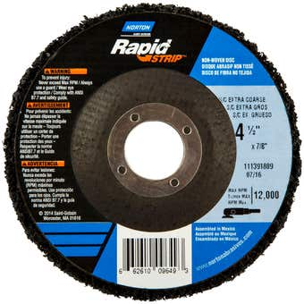 Norton Rapid Strip Disc 115 x 22mm Extra Coarse