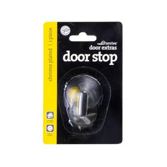 Trio Neur Cushioned Doorstop Chrome Plated 25mm