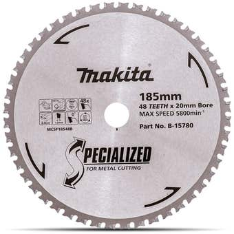 Makita Circular Saw Blade for Metal 48T 185mm