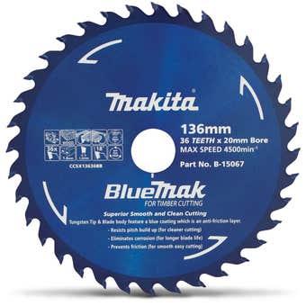 Makita Bluemak TCT Circular Saw Blade 36T 136mm