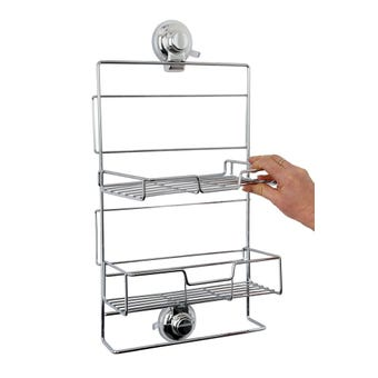 Naleon Suction Shower Caddy Chrome