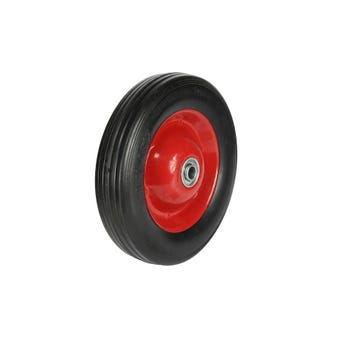 Cold Steel Rubber Wheel with Red Steel Centre 200mm