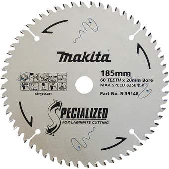 Makita TCT Circular Saw Blade for Laminate 60T 185mm