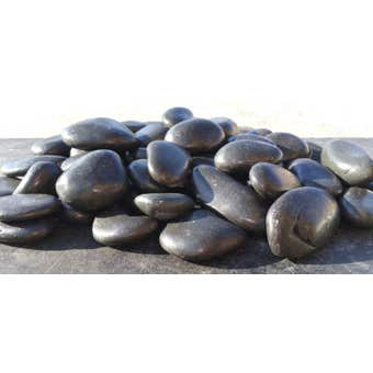 Polished Pebbles Black 20kg