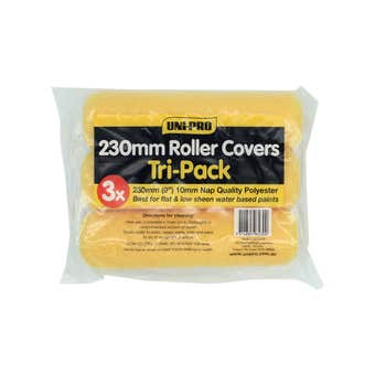 Uni-Pro Roller Covers Tri-Pack 230mm with 10mm Nap
