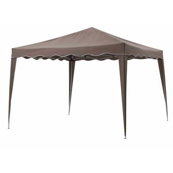 Gazebo Pop-Up Steel Taupe 2.95 x 2.95m