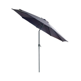 Market Aluminium Umbrella Charcoal 2.95m