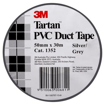 Tartan PVC Duct Tape Silver 50mm x 30m