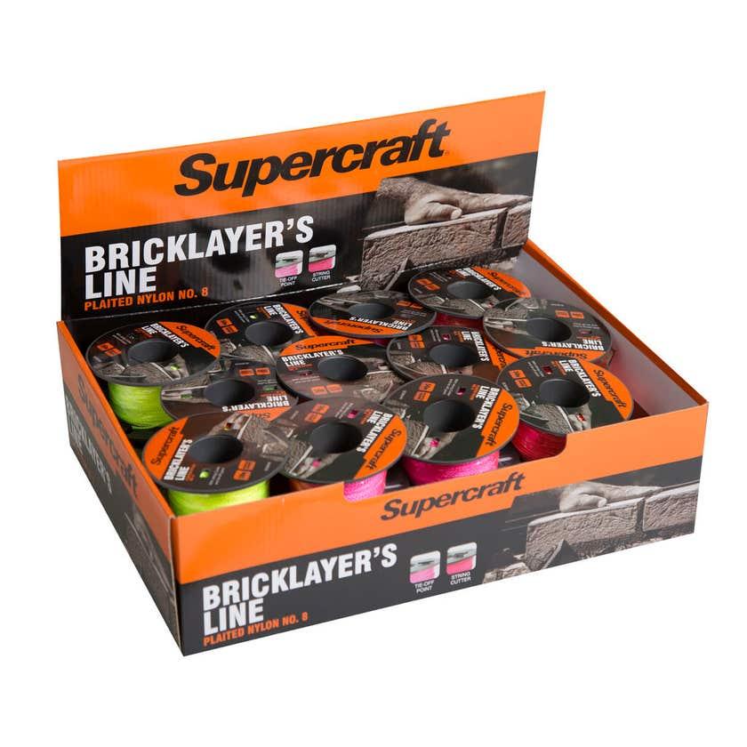 Supercraft Brick Line Assorted Colours 100m