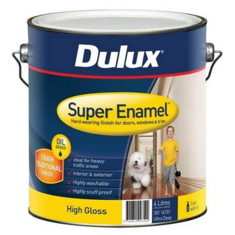 Dulux Super Enamel High Gloss Ultra Deep Base 4L