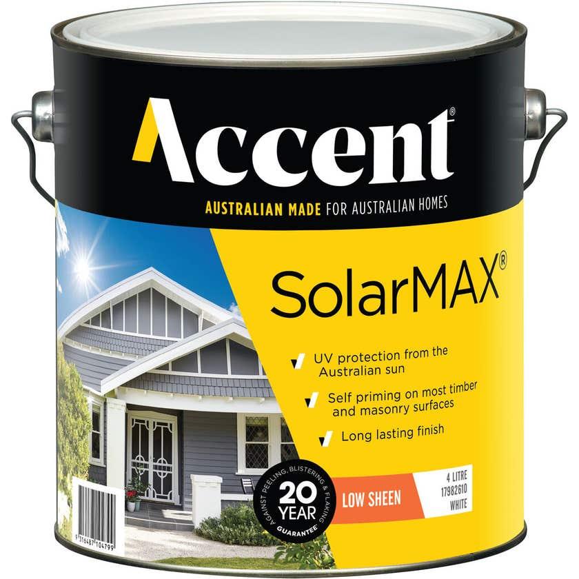 Accent SolarMAX Exterior Low Sheen White 4L