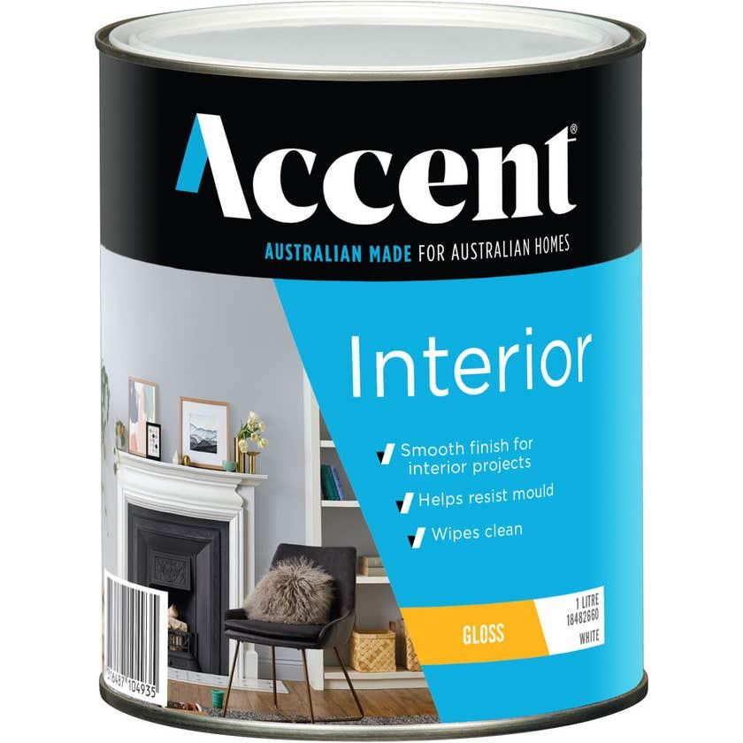 Accent Interior Gloss White 1L