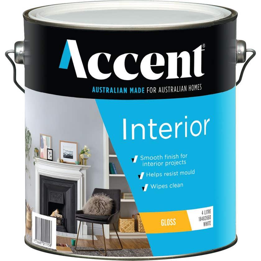 Accent Interior Gloss White 4L