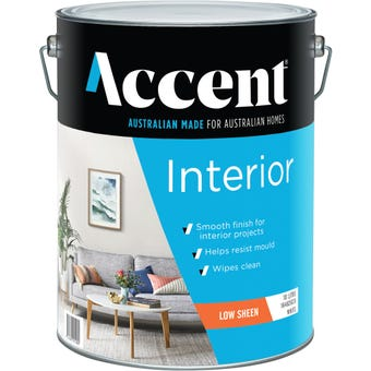 Accent® Interior Low Sheen White 10L