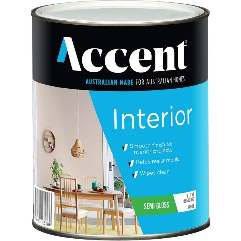 Accent Interior Semi Gloss White 1L